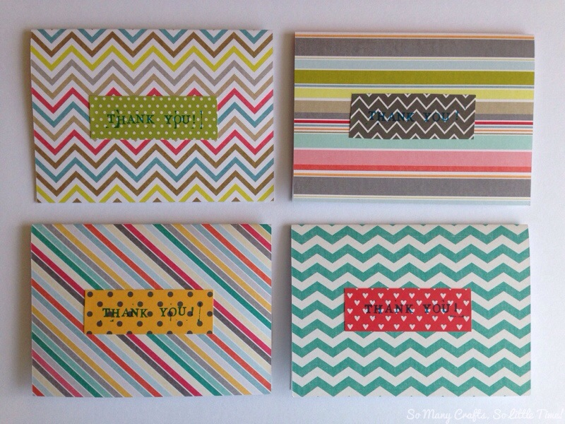 scrapbooking craft ideas scrapbook paper thank you cards hello hooray 2887