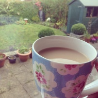 Enjoying a cuppa
